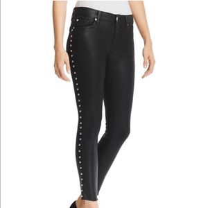 Black coated studded jean